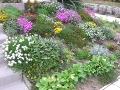 aranżacje ogrodowe, kwitnące kwiaty w ogrodzie, rabatka z kwiatami,  kompozycje ogrodowe, galeria ogrodowa, zdjęcia ogrodowe, obsadzenie skarpy
