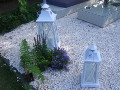 oswietlenie w ogrodzie, lampy latarnie o swietlenie LED