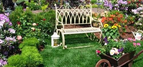 Ogrody, rekals w ogrodzie, miejsce na wypoczynek, do siedzenia