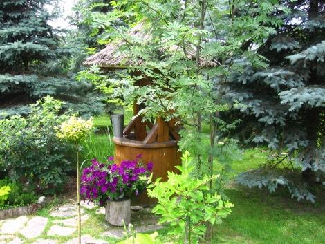 lato w ogrodzie, zabiegi przeprowadzane w lecie, zdjęcia ogrodów, dodatki ogrodowe, studnia ogrodowa, letni ogród, ogrodnik,  galeria ogrodowa