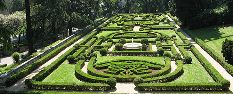 Ogrody Watykańskie, piękne ogrody Europy, ogrody parki w Polsce,